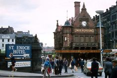 St Enoch Square, Glasgow - May 1973 Glasgow Subway, Lds Primary Lessons, The Second City, Glasgow Scotland, Travel Alone, Best Cities, Solo Travel, Great Britain, Old Photos