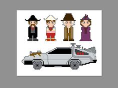 Back to the Future 3 Pixel People Character by CheekySharkLabs, $6.50