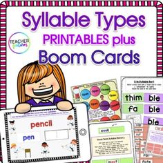 This interactive printable & digital bundle promotes mastery of syllable division rules & syllable sorting by breaking down complicated syllable types(open & closed, vowel pairs, silent e, Cle & Bossy R syllables) & rules into strategies kids can actually use for chunking, segmen...
