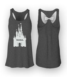 Home Cinderellas Castle!  High Quality - Super Comfortable - Fast Shipping - Satisfaction Guaranteed  *Our women's Flowy Tanks are on the sheer side *Bow is adhered to a clip which can be easily taken off when washing  garment.  High Quality - Super Comfortable - Fast Shipping - Satisfaction Guaranteed Features: 65% polyester, 35% viscose, 30 singles 52% poly, 48% viscose - Athletic Heather 70% rayon / 30% poly - Athleic Heather/Neon PInk and Athletic Heather/White 9% cotton / 91% poly…