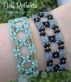 Crossroads Bracelet beaded pattern tutorial by Deb Roberti   Etsy