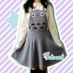 Totoro overall dress - kawaii, fairy kei, anime, harajuku, ulzzang - free shipping