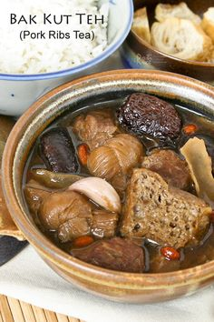 Bak Kut Teh - Pork Ribs in Spices and Herbal Soup | Recipe | Pork Ribs ...