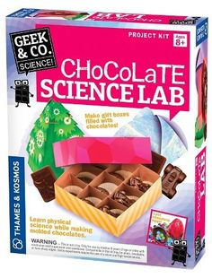 Chocolate Science - just in time for Valentine's Day fun! Thames & Kosmos Chocolate Science Lab #ScienceFun  #STEM  #affiliate