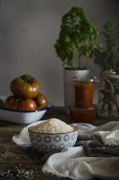 Risotto de tomate y albahaca fresca   Tomato and fresh Basil Risotto http://saboresymomentos.es