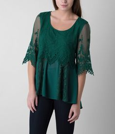 BKE Boutique Pieced Lace Top - Women's Shirts | Buckle