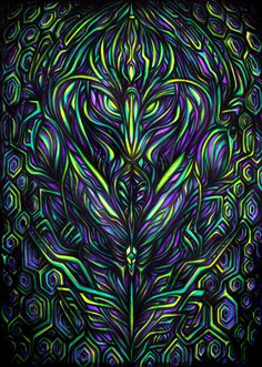 cyber entity Backdrops For Parties, Home Deco, Psychedelic, Cyber, Sci Fi, Spirituality, Paintings, Abstract, Wallpaper