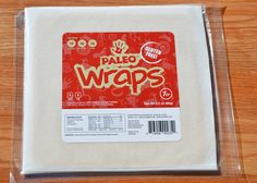 Have to TRY ?? Paleo Wraps™ 1 Pack 7 Wraps. $8.99 Raw, Vegan, Starch Free, Gluten Free, Grain Free, Yeast Free, Soy Free, GMO Free, Salt Free (No Added Salt) Low Carb and best of all delicious. Paleo Wraps contain three simple ingredients:  *Coconut Meat, and *Coconut Water, *Unrefined Virgin Coconut Oil (*Derived From Organic Coconuts).