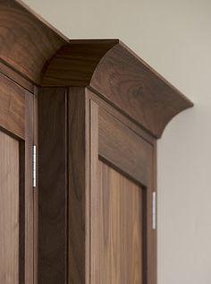 Colour Shaker Style Custom Kitchen Walnut Cabinet Bat Identical Crown Molding