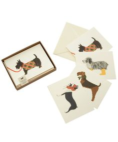 Set of 8 Assorted Dog Note Cards