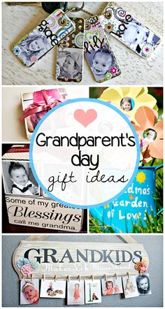 Creative Grandparent's Day Gifts to Make - Crafty Morning - - Here are a list of fun grandparents day gifts for kids to make! You will find DIY gifts just for grandma and grandpa as well. Grandparents Day Crafts, Grandparent Gifts, Mothers Day Crafts, Idee Cadeau Grand Parent, Cadeau Grand Parents, Creative Gifts, Cool Gifts, Diy Christmas Gifts, Holiday Gifts