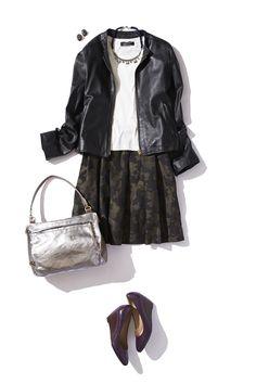 人気のカモフラージュ柄スカートで一足先に秋の装い ― A