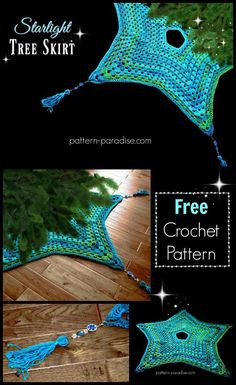 Free Crochet Pattern: Starlight Tree Skirt   Pattern Paradise