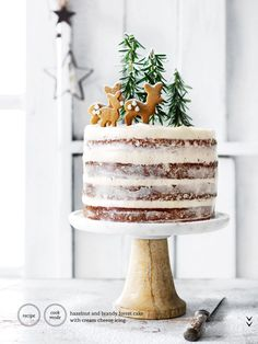 naked diy christmas cake... #backery #cake #diy#nakedcake