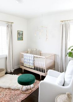 """A modern nursery design incorporates form and function seamlessly. Fancy some inspiration? Here are 10 modern nursery ideas for baby that are far from """"babyish"""". Baby Bedroom, Nursery Room, Girl Nursery, Kids Bedroom, Nursery Decor, Nursery Ideas, Bedroom Ideas, Nursery Curtains, Boy Room"""