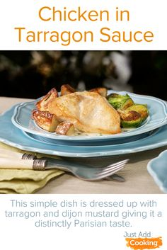 Tarragon has a mild anise-like flavor that, with a bit of Dijon mustard, dresses up an easy weeknight chicken dinner like it were a night out on the town in Paris. For less cleanup, bake the chicken in the same pan as the potatoes!