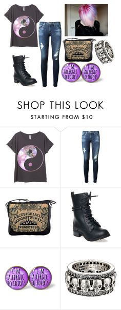 """Ying Yang"" by shyoxic on Polyvore featuring AG Adriano Goldschmied, Reneeze, King Baby Studio, Duffy, women's clothing, women's fashion, women, female, woman and misses"