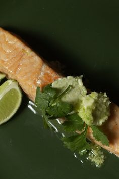 """NYT Cooking: Reader's Digest, as homey as it gets, took me by surprise with an international lineup of recipes in its """"30 Minute Cookbook.""""  I gave its recipe for salmon with lime-herb butter a try, partly because keeping compound butters in the refrigerator is a terrific time saver."""