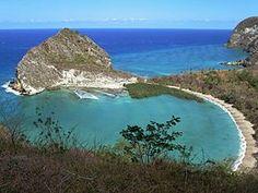 Plage de Moya sur la côte est de Petite-Terre