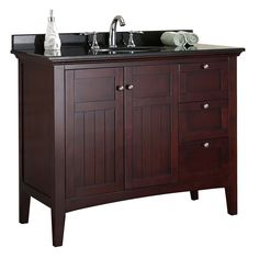 OVE Decors Gavin Tobacco Undermount Single Sink Birch Bathroom Vanity with Granite Top (Common: 42-in x 22-in; Actual: 42-in x 21-in)