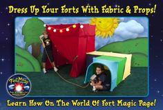 Fort Magic.  A blanket fort construction kit.