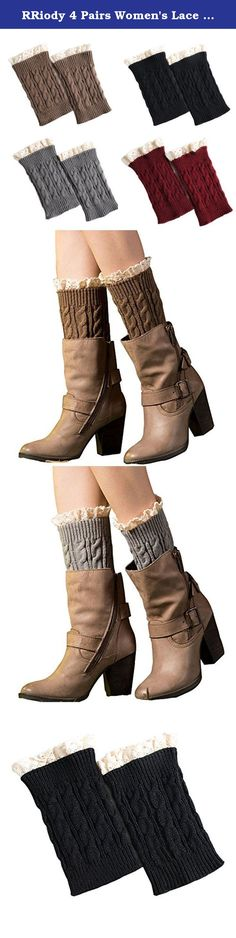 RRiody 4 Pairs Women's Lace Trim Topper Cuff Winter Leg Warmer Crochet Knit Boot Socks (Colorful 1). Boot Cuffs are cute cropped leg warmers that slip down into the tops of your boots. Once in place, the boot cuffs topper pair keeps your legs warmer and adds a stylish finishing touch to your ensembles. You can wear the boot cuffs over bare legs, skinny jeans, tights or leggings without any bulk in your boots.