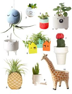 Mr Octopus is on apartment Therapy today!! Cute pots and planters