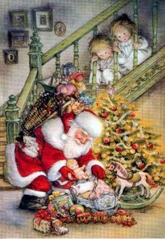 Alfa img - Showing > Old-Fashioned Christmas Animated GIF Vintage Christmas Images, Old Fashioned Christmas, Christmas Scenes, Christmas Past, Vintage Holiday, Christmas Pictures, Winter Christmas, Xmas, Father Christmas