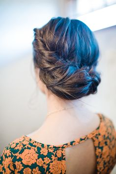 Hairstyle | On SMP: http://www.StyleMePretty.com/northwest-weddings/2014/01/28/southern-oregon-wine-country-wedding-at-rogue-valley-country-club/  Alexandra Grace Photography