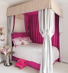 Double Sided Canopy Bed Curtains... pretty for the future room of our little girl