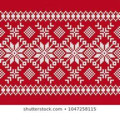 Cartera de fotos e imágenes de stock de chasiki   Shutterstock Knitting Stiches, Knitting Charts, Cross Stitch Embroidery, Cross Stitch Patterns, Fair Isle Chart, Red Tablecloth, Norwegian Knitting, Crochet Bedspread, Christmas Knitting Patterns