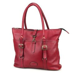 Claire Chase Ladies Computer Tote Bag - Red