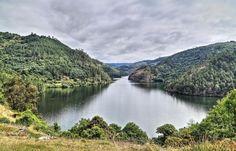 Chouzan, concello de Carballedo, Ribeira Sacra - Río Miño visto desde Chouzan, provincia de Lugo