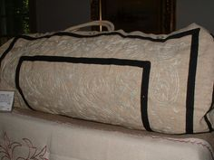 Rare Gladstone Bag Cover, English, 1860 from silvermine on Ruby Lane