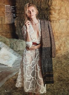 GLAMOUR MAGAZINE Valentina Zelyaeva & Michiel Huisman in Field Of Dreams by Will Davidson. Jillian Davison, August 2014, www.imageamplified....