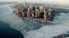 CBS Evening News has captured a stunning overhead panorama of Manhattan Island surrounded by frozen waters due to the record low temperatures that have recently plagued New York City and much of the country. FEBRUARY 20, 2015, 6:30 PM|For the past few weeks, tugboats in New York Harbor have had to be sent out ahead of the ferries to ensure they could make it through the icy waters. The frigid weather is expected to continue causing havoc not only in the Northeast but the South as well…