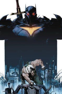 Batman: Curse of the White Knight - Bane and Azrael by Sean Gordon Murphy * Batman Artwork, Batman Comic Art, Batman Comics, Gotham Batman, Batman Robin, Superman, Funny Batman, Batman Universe, Comics Universe