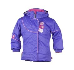 """This Obermeyer Girls Karma jacket is from their """"Serendipity"""" Collection of hip colors and detailing. Cute sporty-style jacket with jelly zippers, Wishing Stone pulls and fun bedazzled snap caps! $128.50 Click on this link for more technical information: http://www.kidskiandrain.com/obermeyer-karma-jacket.html"""