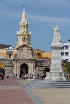 Entrance to the old walled city of Cartagena, Colombia by twiga_swala