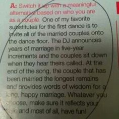 First dance idea