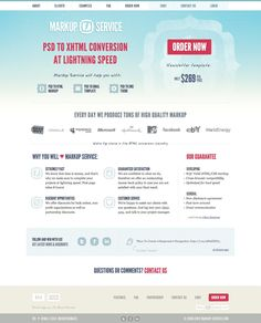 Convert PSD to HTML / CSS, PSD to XHTML slicing service. Design to HTML / XHTML conversion online