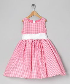 Look what I found on #zulily! Pink Gingham Bow Dress - Infant, Toddler & Girls by Kid Fashion #zulilyfinds