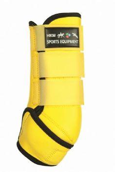 HKM NEOPRENE SPORTS WRAP BOOTS -- yellow/black