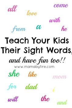 Have fun with your kiddo and teach them their sight words at the same time with this game! Have fun with your kiddo and teach them their sight words at the same time with this game! Play Based Learning, Kids Learning Activities, Hands On Activities, Fun Learning, Cognitive Activities, Preschool Ideas, Early Learning, Sight Word Games, Sight Word Activities