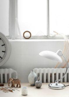 White on white. Via Emmas designblogg. Photographer: Fritz Hansen