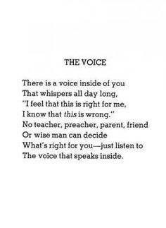 A little reminder from Shel Silverstein