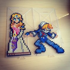 Princess Zelda and Sheik - Ocarina of Time perler beads by smargetts