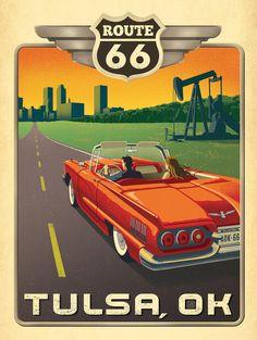vintage tulsa posters/Route 66