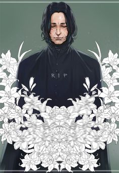 rip, alan rickman, and harry potter image Harry Potter Anime, Rogue Harry Potter, Arte Do Harry Potter, Harry Potter Severus Snape, Severus Rogue, Harry Potter Drawings, Harry Potter Facts, Harry Potter Love, Harry Potter Universal