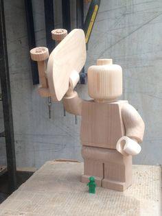 Wooden lego skater by Ragskin